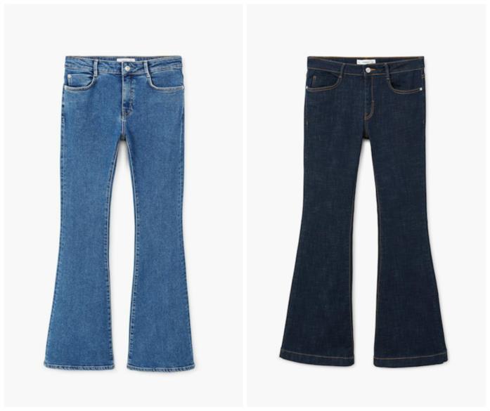 Collage di jeans flare