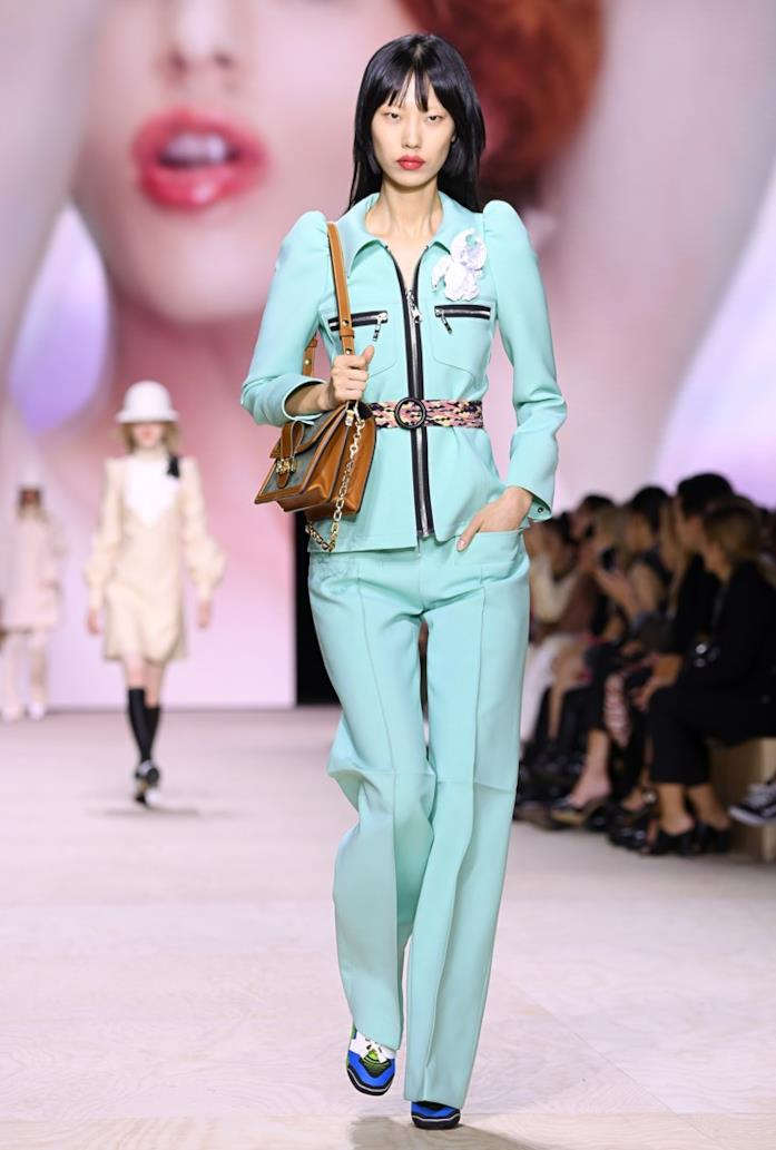Tailleur vita alta Louis Vuitton