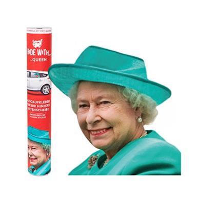 Adesivi per Auto Personaggi Famosi Regina Elisabetta