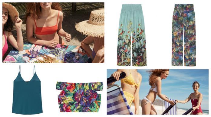 A fantasia tropicale, i pantaloni e i top di tendenza estate 2018
