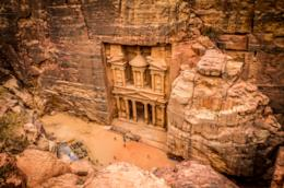 La città di Petra, in Giordania, location di Indiana Jones e l'ultima crociata