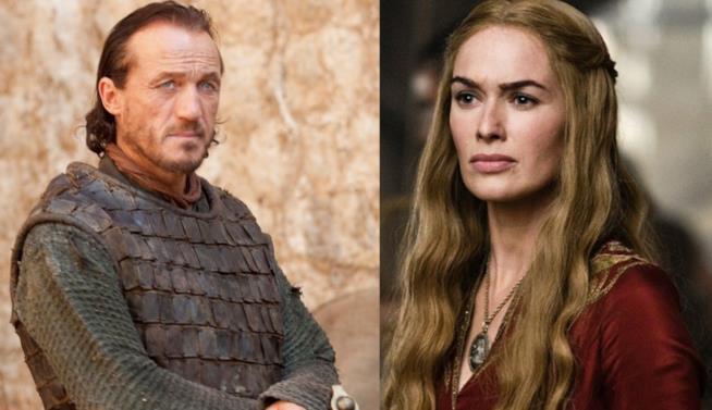 Un collage tra gli interpreti di Bronn e Cersei