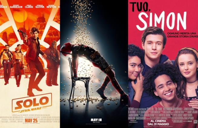 I poster di Solo: a Star Wars Story, Deadpool 2 eTuo. Simon