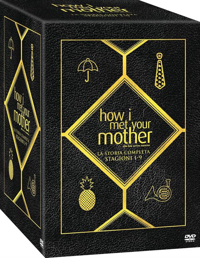 Cofanetto di How I Met Your Mother con i simboli iconici della serie