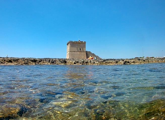 Spiaggia di Torre Lapillo, Porto Cesareo, Salento, Italia.