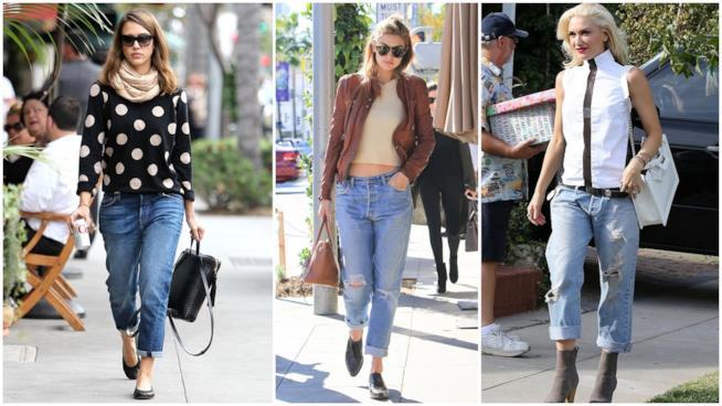 Le star che indossano i boyfriend jeans
