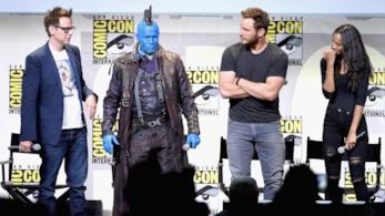 Il regista ed il cast di Guardiani della galassia al comic-con