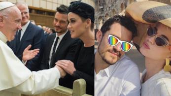 Katy Perry e Orlando Bloom che incontrano Papa Francesco e al Colosseo