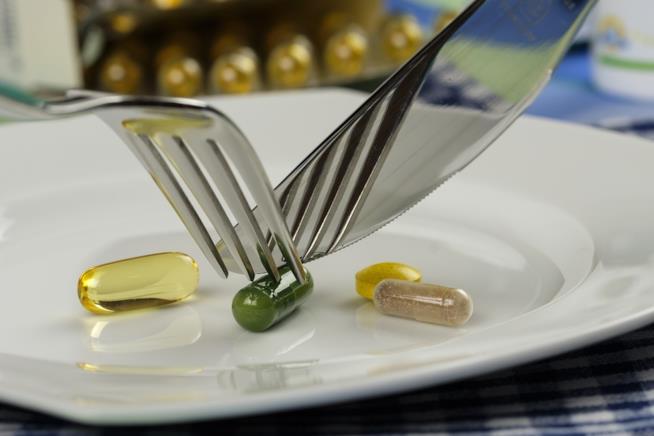 Vitamine al posto del cibo