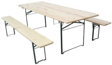 Set tavolo + 2 panche richiudibili