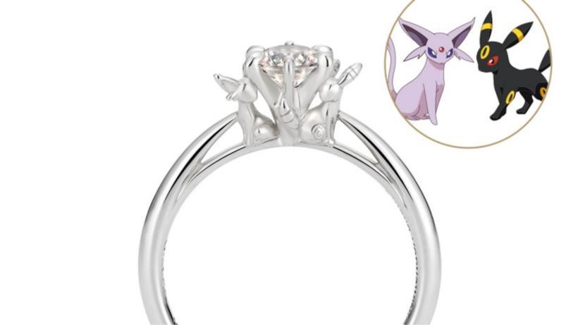 Un dettaglio dell'anello di fidanzamento dei Pokemon