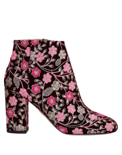 Ankle boots a stampa florale
