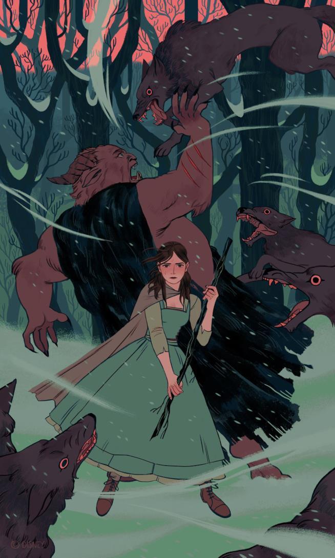 Illustrazione di Sara Kipin ispirata a La bella e la bestia