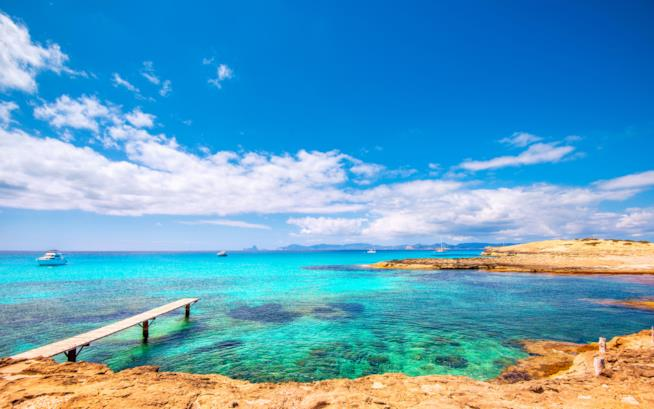 La spiaggia di Illetes a Formentera
