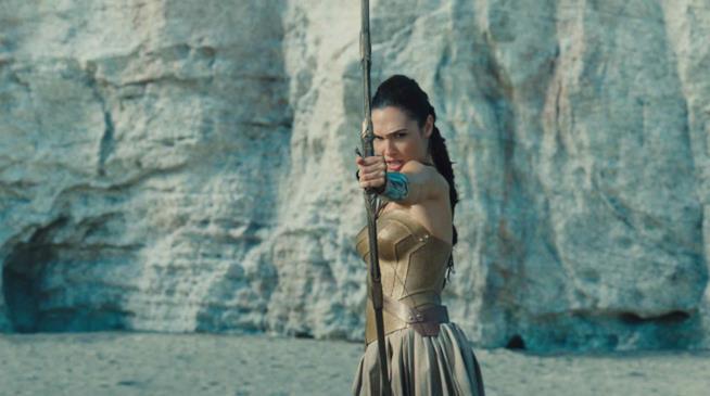L'attrice Gal Gadot in Wonder Woman