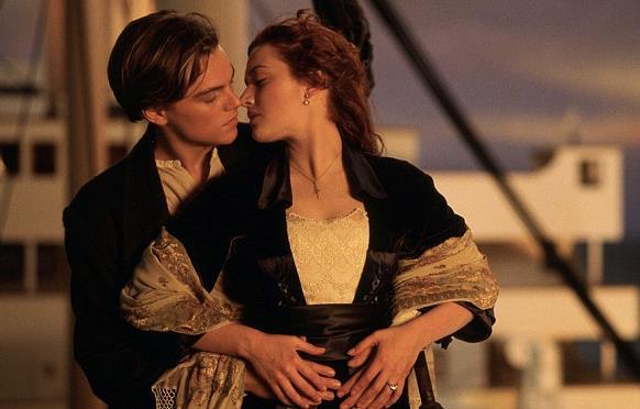 Il bacio tra Jack e Rose in Titanic