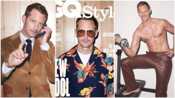 Alcuni scatti di Alexander Skarsgård per GQ Style