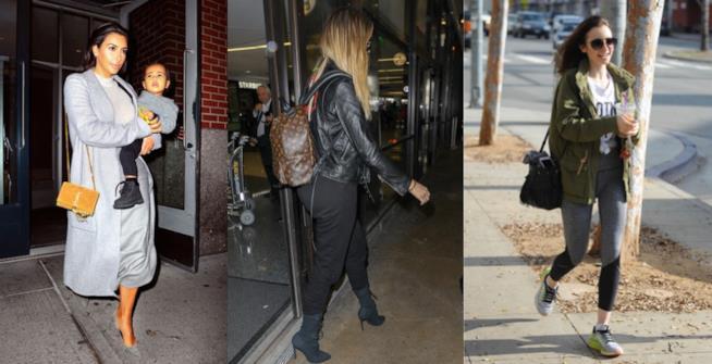 Le sorelle Kardashian e Lily Collins sfoggiano borse anni '80