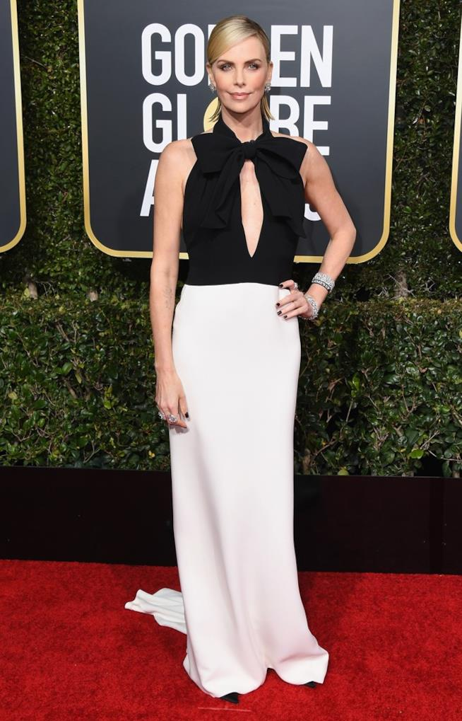 Charlize Theron ai Golden Globes 2019