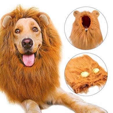 Costume Regolabile, Parrucca leone con Orecchie