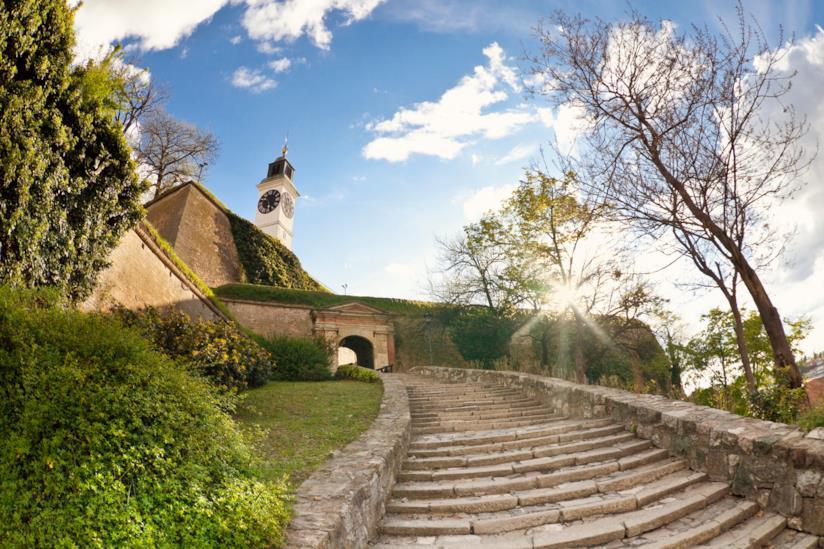 Salita alla fortezza di Petrovaradin