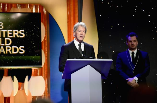 David E.Kelley pronuncia un discorso ai Writers Guild Award 2018