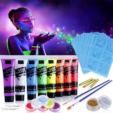 Vernice Fluorescente Colorata Viso e Corpo