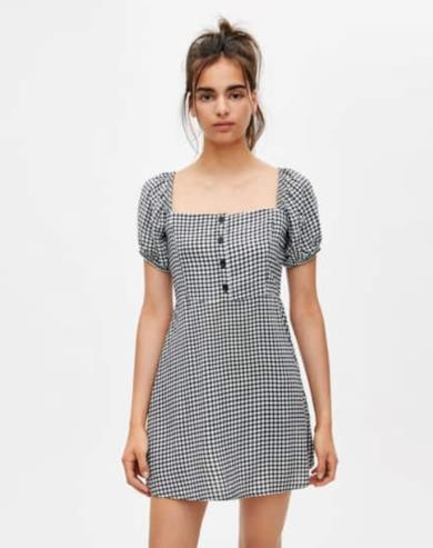 Mini dress a quadretti