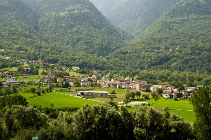 Paesaggio di Valtellina