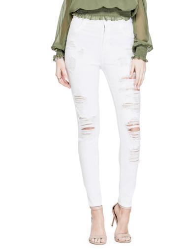 Jeans skinny strappi frontali