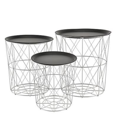 Tavolini decorativi in metallo