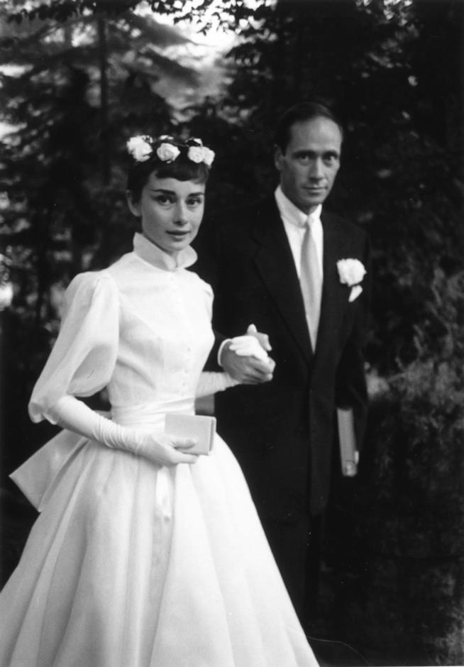 Audrey Hepburn e l'abito da sposa del primo matrimonio