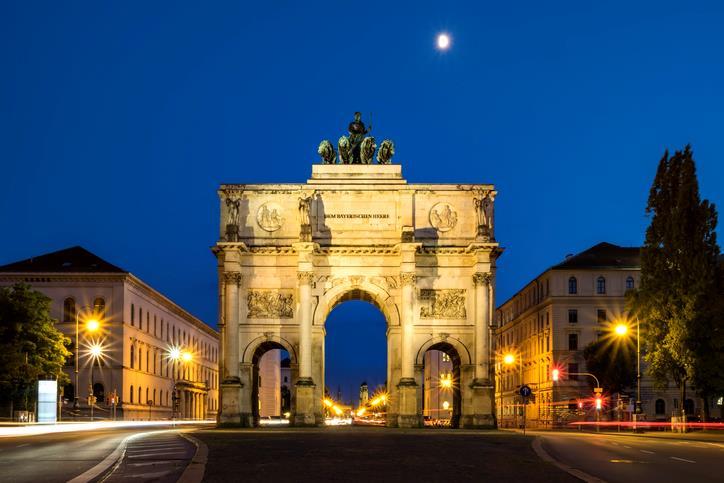 La Porta della Vittoria, un Arco del Trionfo allo Schwabing