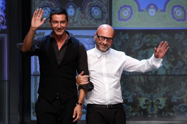 Gli stilisti Dolce & Gabbanaalla Fashion Week di Milano
