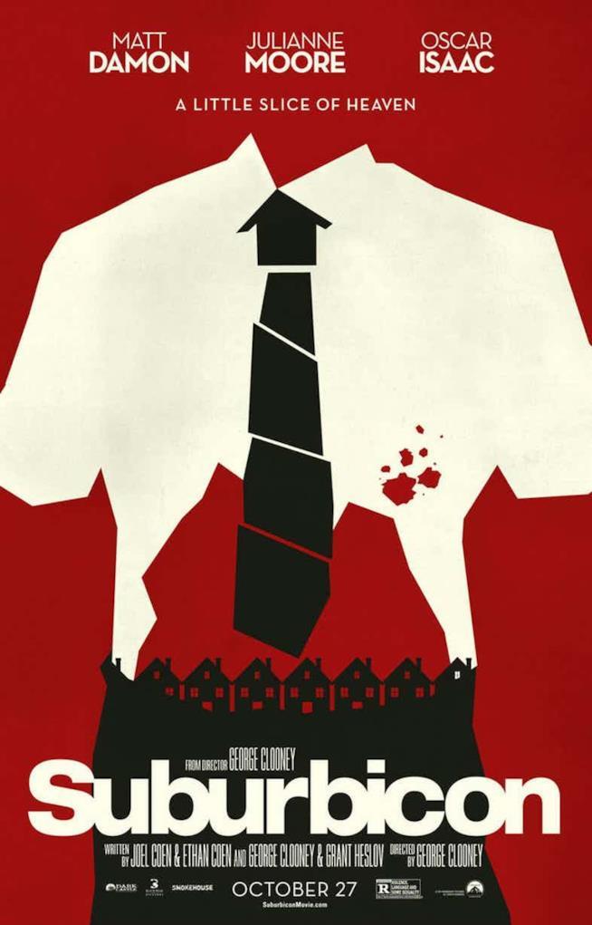 Il poster ufficiale di Suburbicon