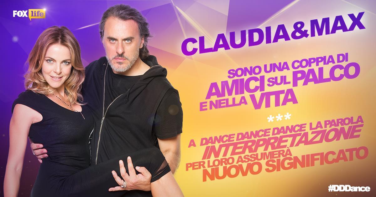 Claudia Gerini e Max Vado