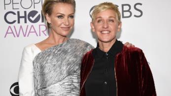 Ellen DeGeneres con la moglie Portia de Rossi