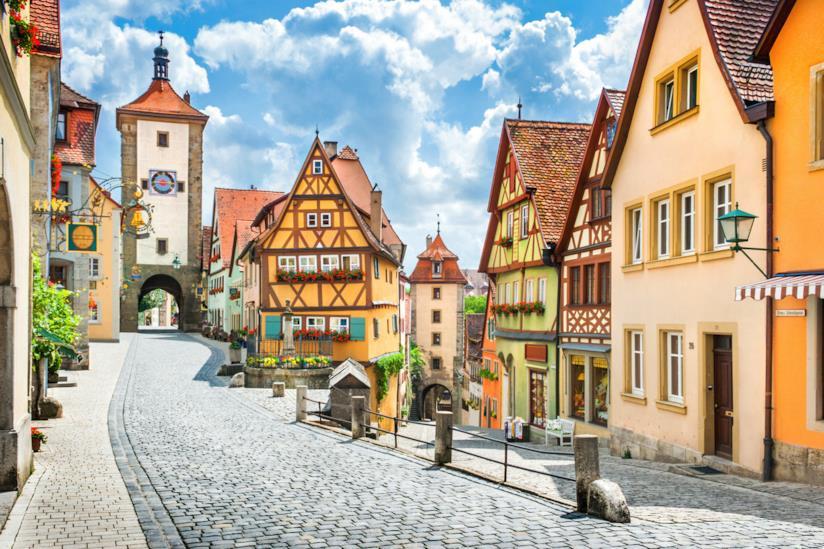 Città storica di Rothenburg ob der Tauber in Baviera, Germania