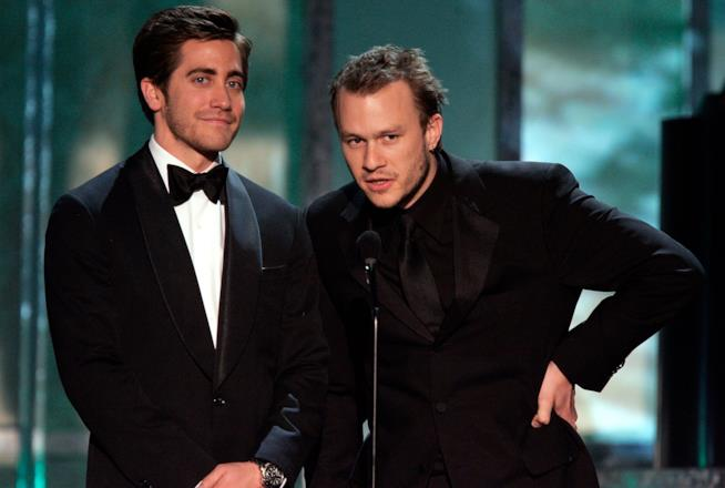 Heath Ledger e Jake Gyllenhaal a un evento