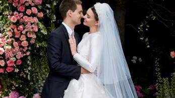 Miranda Kerr: lo splendido abito da sposa Dior