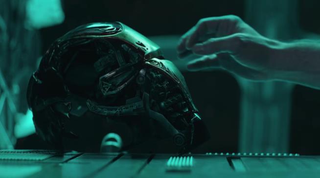 L'elmo di Iron Man in Avengers:Endgame
