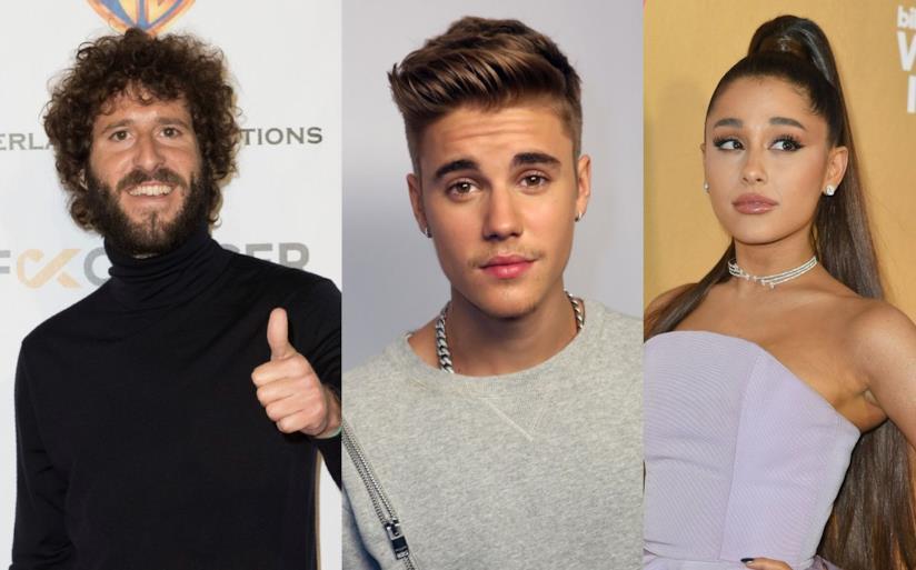 I cantanti Lil Dicky, Ed Sheeran e Ariana Grande