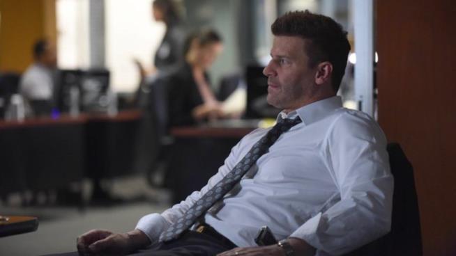 Booth nel settimo episodio della dodicesima stagione di Bones