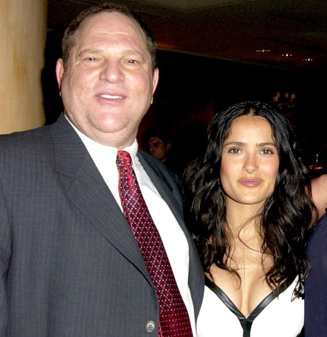 Salma Hayek con il produttore che la molestava