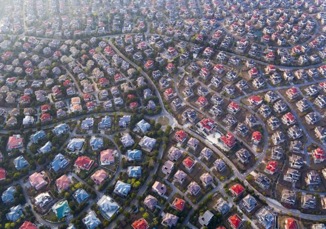 Quartiere residenziale a Wuhan, Hubei, Cina