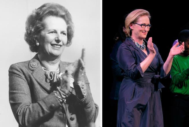 Meryl Streep nel ruolo di Margaret Thatcher
