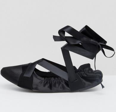 Ballerine con nastro nere