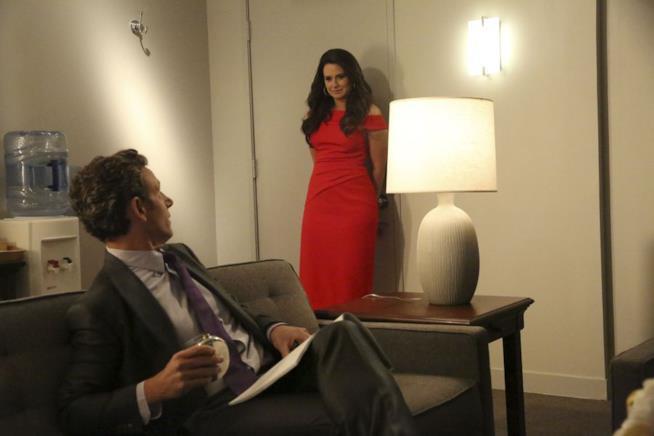 Una scena del 100esimo episodio di Scandal