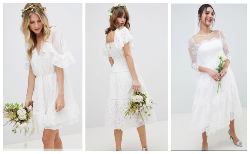 Corti e in pizzo, gli abiti da sposa di tendenza per l'estate 2018