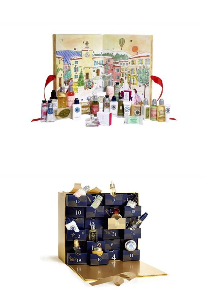 i due calendari dell'avvento beauty di L'Occitane